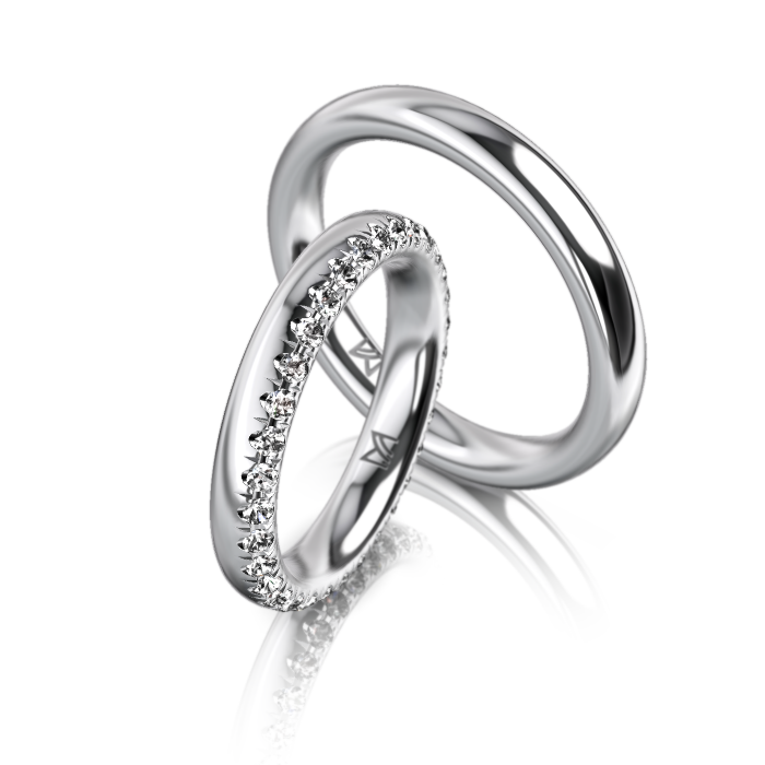 Meister Wedding Ring Classics Twinset 20 Wedding Rings Whitegold